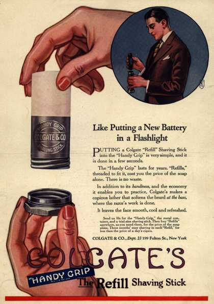 Colgate & Company's Colgate's Handy Grip – Like Putting a New Battery in a Flashlight (1923)