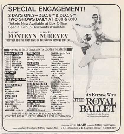 The Royal Ballet Fonteyn Rudolph Nureyev (1965)