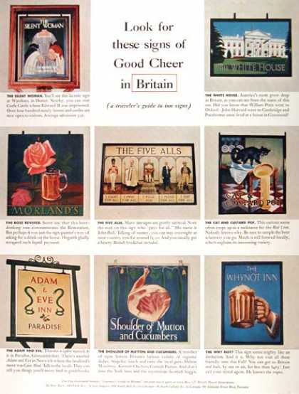 British Inn Signs Guide (1957)