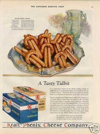 "Kraft Cheese Ad ""A Tasy Tidbit... (1928)"