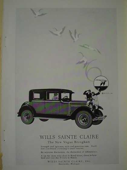Wills Sainte Claire The new Vogue Brougham (1926)