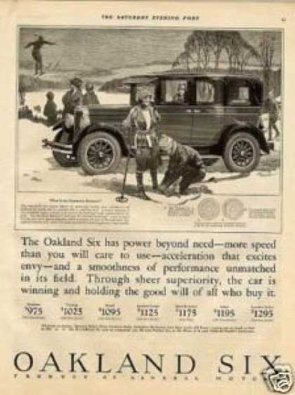 Oakland Six Car Ad John Woodruff Art (1926)