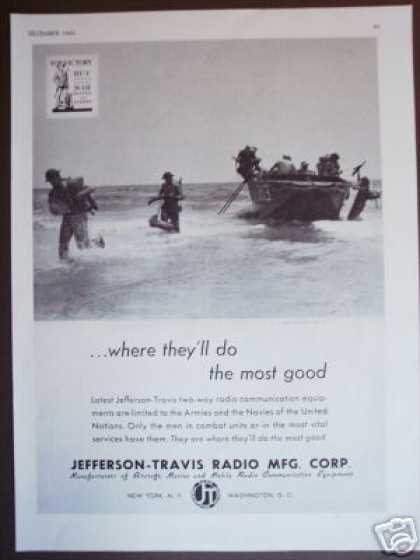 U.s. Marines Landing Photo J-t Radio (1942)