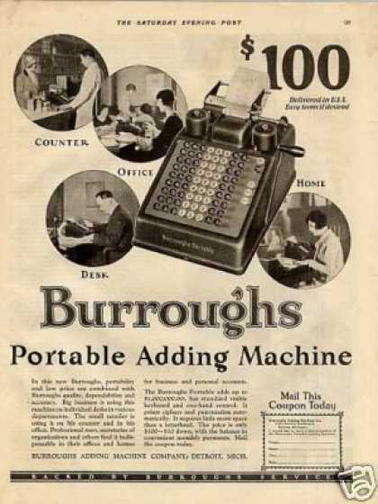 Burroughs Portable Adding Machine (1926)