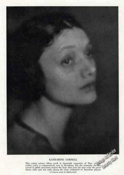 Katharine Cornell Collectible Antique Print Photo (1924)