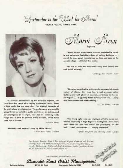 Marni Nixon Photo Soprano Music (1967)