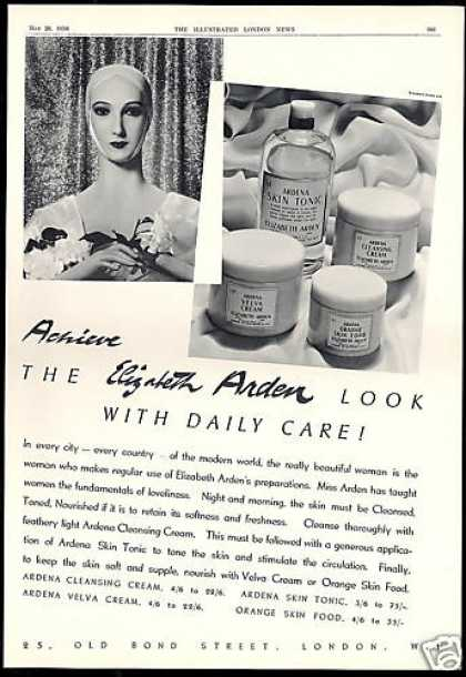 Elizabeth Arden Cosmetics Skin Food Tonic Cream (1938)