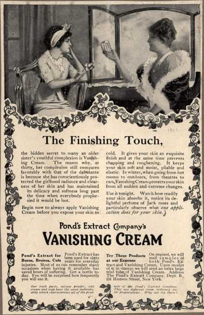 Pond's Extract Co.'s Pond's Vanishing Cream – The Finishing Touch (1911)