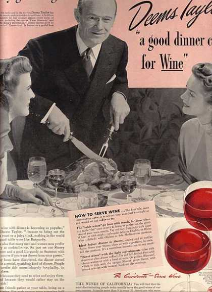 California Wine's The Wines of California (1941)