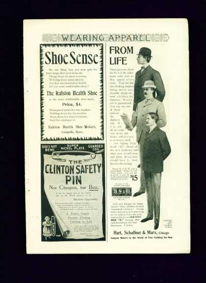 Hart Schaffner &amp; Marx Tailor Made Suits C 1/2 Pg (1895)