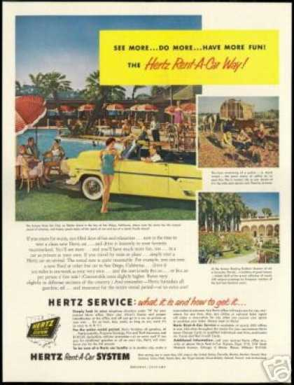 Kona Kai Club Shelter Island California Hertz (1955)