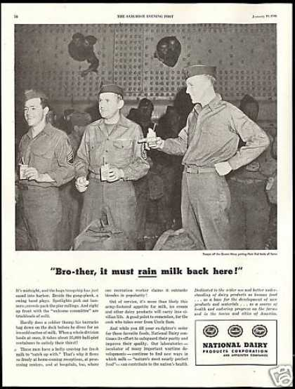 National Dairy Milk U.S Soldiers off Queen Mary (1946)