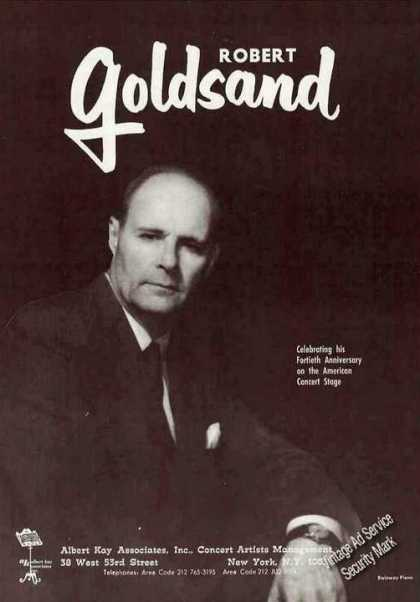 Robert Goldsand Photo Pianist Booking (1967)