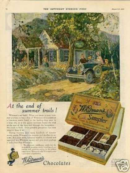 Whitman's Chocolate Candy Ad Rotterman Art (1926)