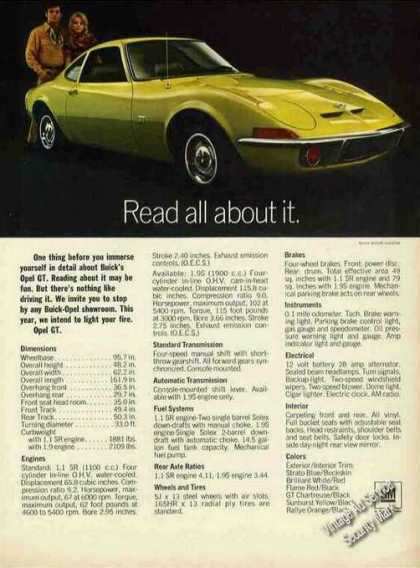 Buick Opel Gt Nice Glamour Shot Car (1970)