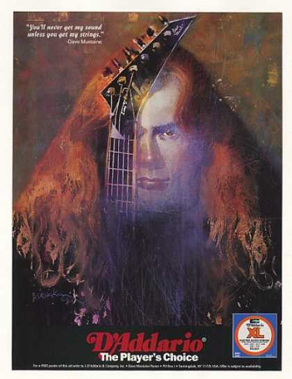 Dave Mustaine D'Addario Guitar Strings (1995)