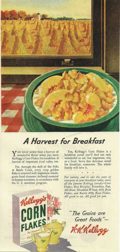 Kelloggs Corn Flakes Cereal (1945)