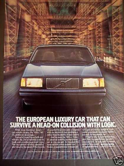 Volvo 740 Gl Logical Car Photo (1989)