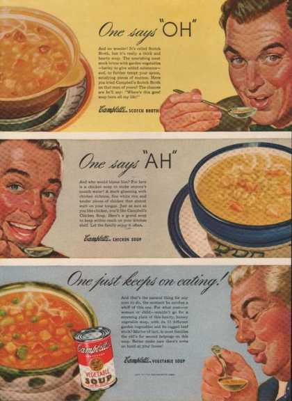 One Just Keeps On Eating Campbells Soup (1946)
