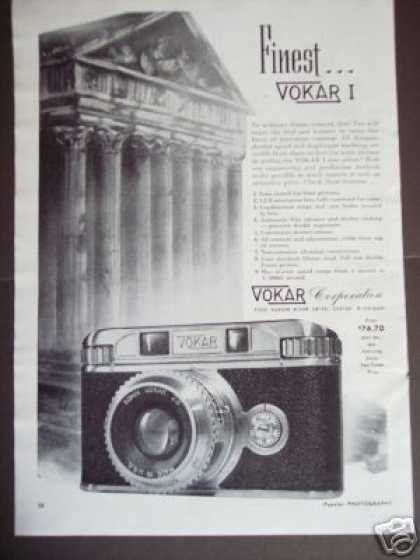 Vokar I 35mm Camera Art (1947)
