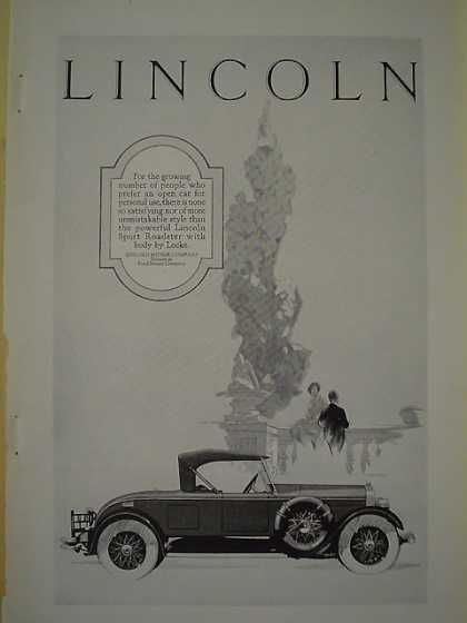 Lincoln Motor Company Div of Ford Sport Roadster Locke (1926)