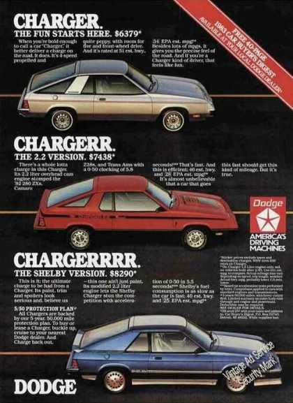 Dodge Chargers (3 Models) Car (1983)