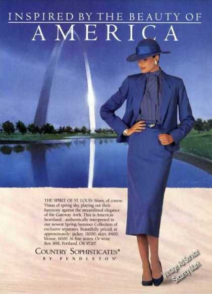 Gateway Arch St. Louis Photo Pendleton Fashion (1987)