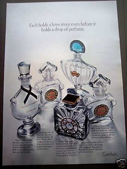 Guerlain Perfume Bottles Love Story (1970)