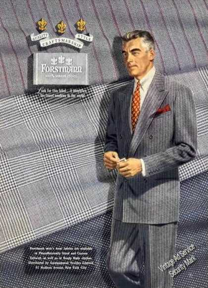 Forstmann 100% Virgin Wool Fashion (1950)