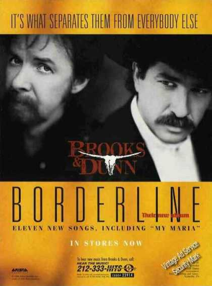 "Brooks & Dunn Photo ""Borderline"" Album (1996)"