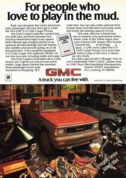 Gmc S-15 Club Coupe Club Coupe Pickup Advertising (1985)