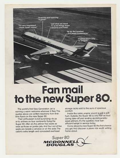 McDonnell Douglas DC-9 Super 80 Jet Fan Mail (1982)