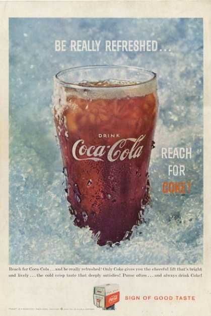 Coca Cola Coke Glass Cup T (1959)