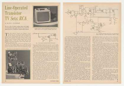 RCA Gamin Line-Operated TV Set Circuit 2-P Article (1965)