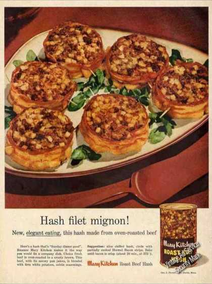 "Mary Kitchen Roast Beef Hash ""Filet Mignon"" (1956)"