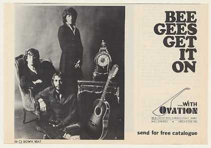 The Bee Gees Ovation Guitar Photo (1971)