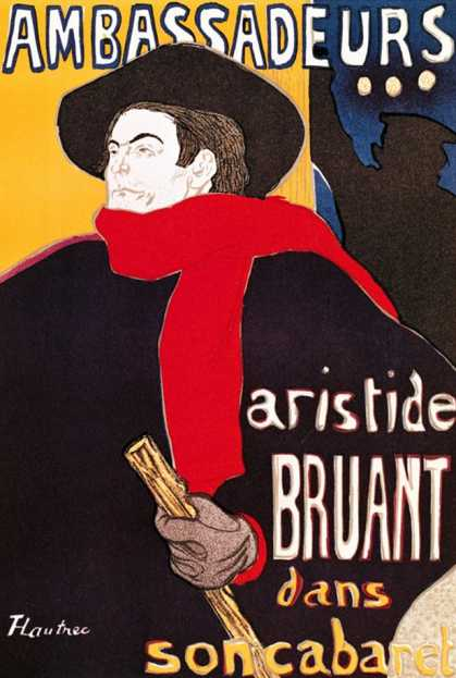 Poster Advertising Aristide Bruant in His Cabaret at the Ambassadeurs (1892)