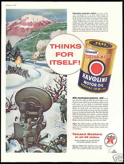 U.S Army Counter Mortar Radar Texaco Oil (1956)