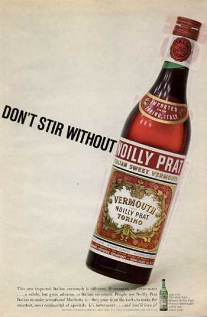 Noilly Prat Vermouth Bottle (1965)