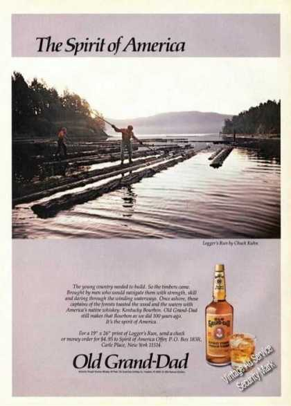 Old Grand-dad Logger's Run Liquor Advertising (1984)