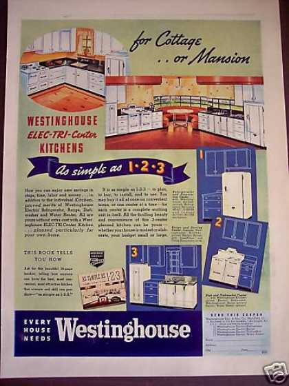 30's Kitchen Decor Planning Westinghouse (1938)