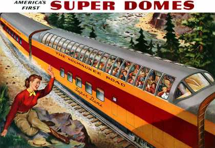 Milwaukee Road Hiawatha Super Domes (1953)