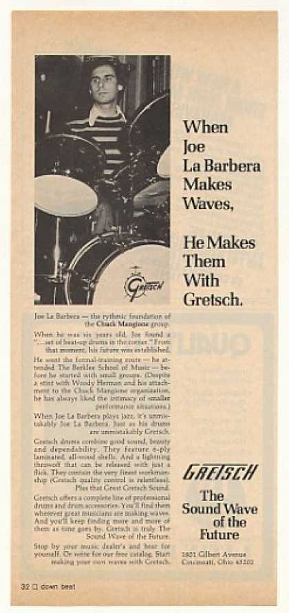 Joe La Barbera Gretsch Drums Photo (1976)