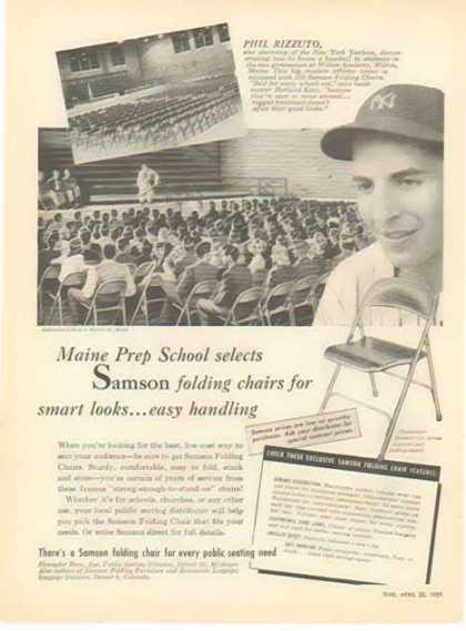 Samson Folding Chairs – New York Yankees Phil Rizzuto (1951)