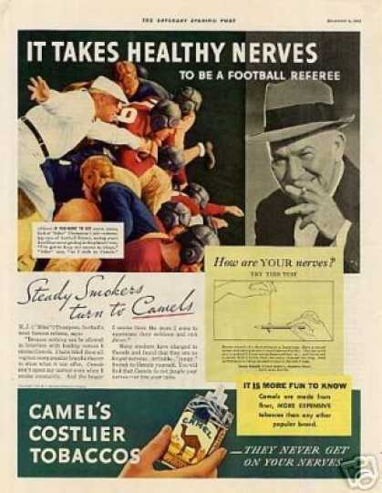 Camel Cigarettes Ad M.j. (mike) Thompson (1933)