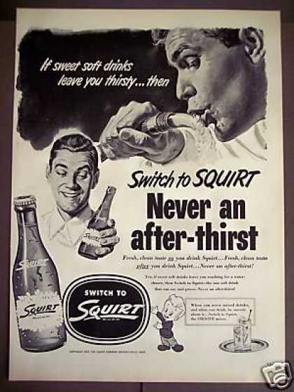 Drink From the Hose Art Squirt Soda (1952)