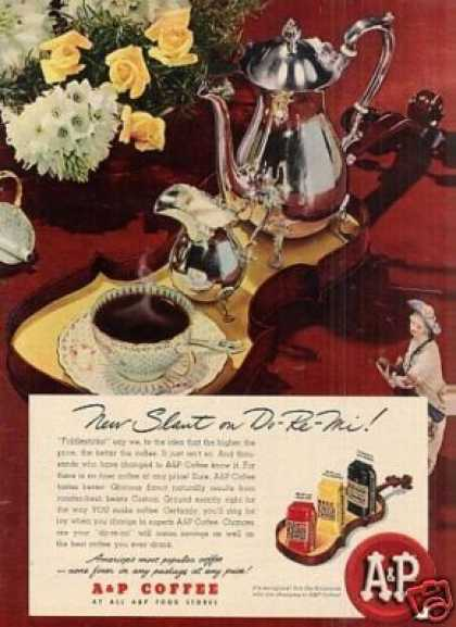 "A&p Coffee Ad ""New Slant On"" (1948)"