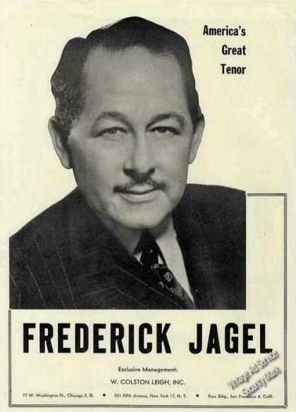 "Frederick Jagel ""America's Great Tenor"" Trade (1945)"