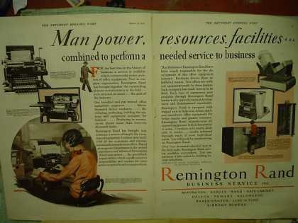 Remington Rand Business Services Manpower 2 pg (1928)