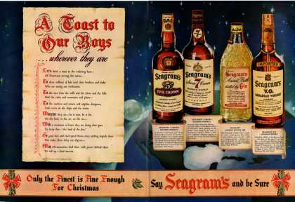 Seagrams Whiskey Bottle Christmas To Do (1942)